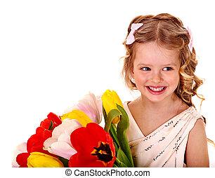 春, flower., 子供