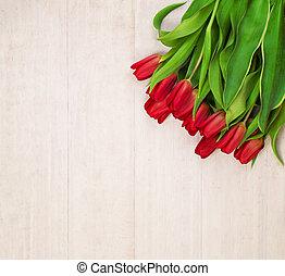 春, netherlandish, 花, 背景, チューリップ