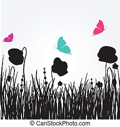 春, poppies., カード, 美しさ