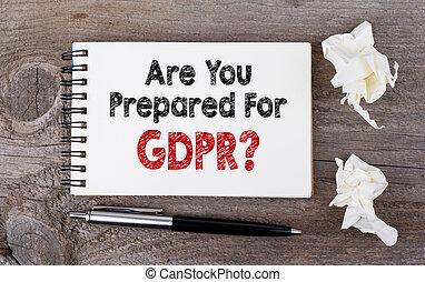 是, 你, 準備, 為, 一般, 數据保護, 規定, gdpr