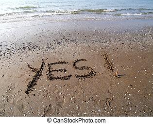 是, 寫, 在沙子上, ......的, the, 海