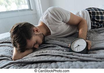 昼寝, 人, 眠い, 持つこと, 平和である