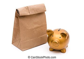昼食, セービング, あなたの, お金