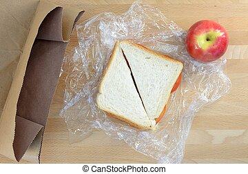 昼食, パックされた