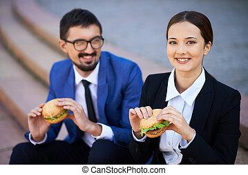 昼食, ビジネス