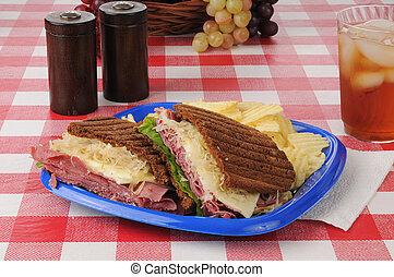 昼食, ピクニック, reuben