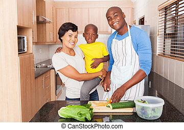 昼食, 準備, 家族, アフリカ