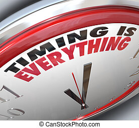 時機, 是, 每件事, 詞, 上, 鐘, 準時, 速度