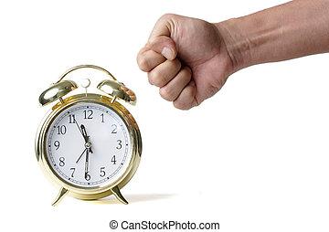 時計を 打つこと