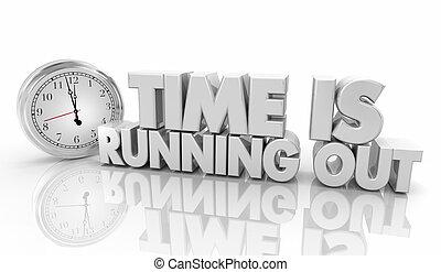 時計, イラスト, 動くこと, 期限, 言葉, タイムアウト, 3d