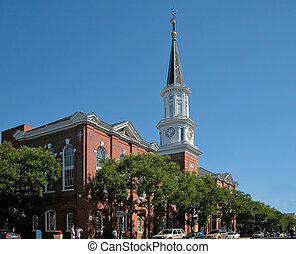 時計 タワー, の, 市役所