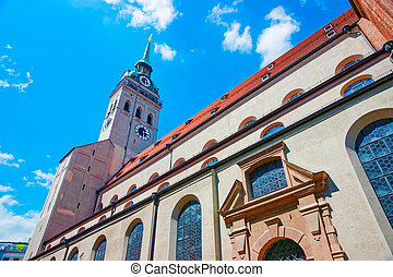 時計, ミュンヘン, 聖者, 教会, タワー, ピーター