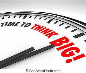 時計, 大きい, 革新, 創造性, ブレーンストーミング, 時間, 考えなさい