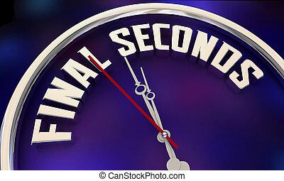 時計, 最終的, 時間, 3d, イラスト, 期限, 言葉, 秒, 秒読み