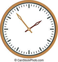 時計, -, 顔, ベクトル, 容易である, 時間, 変化しなさい