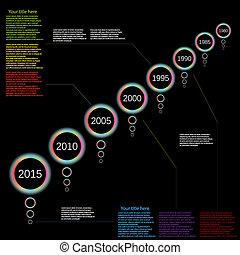 時間の色, ベクトル, infographic, 線