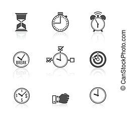 時間管理, 集合, 鐘, 圖象