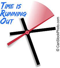 時間鐘, 有限, 跑, 在外