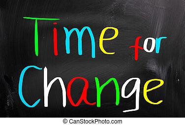 時間, ∥ために∥, 変化しなさい, 概念