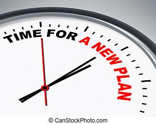 時間, ∥ために∥, a, 新しい, 計画