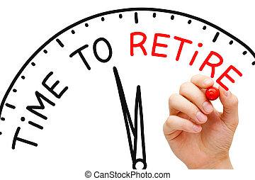 時間, へ, 引退しなさい