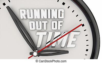 時間, イラスト, 期限, 時計 手, から, 警告, 動くこと, カチカチ音をたてること, 3d