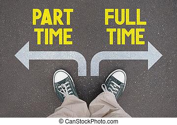 時間, -, トレーナー, 時間, 靴, フルである, 部分