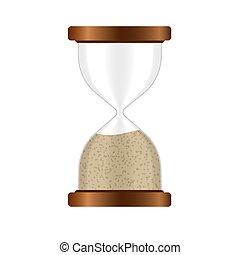 時間, ベクトル, の上, hourglass., 隔離された