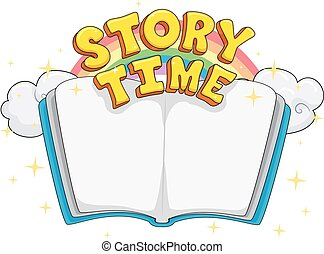 時間, レタリング, 物語の 本