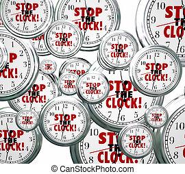 時間, 休止, 無料で, 時計, 壊れなさい, 止まれ, 言葉, から