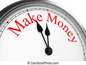 時間, 做, 錢