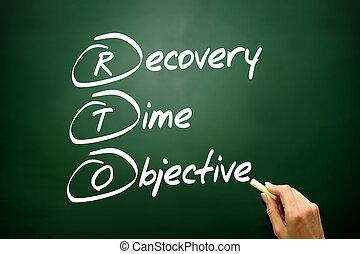 時間, 回復, acron, ビジネス, 目的, 手, 引かれる, 概念, (rto)
