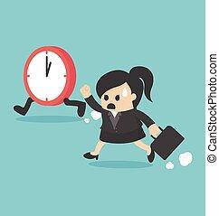 時間, 婦女 事務, 管理, 跑