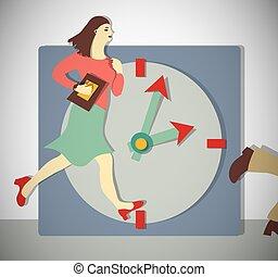 時間, 婦女 事務, run., 管理