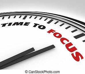 時間, 對 焦點, -, 鐘, ......的, 集中