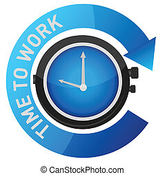 時間, 工作, 插圖, 概念