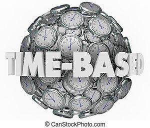 時間, 建立, clocks, 球, 時機, 結果, 3d, 插圖