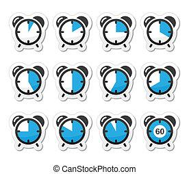 時間, 措施, 鐘, 矢量, 圖象
