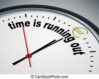 時間, 是, 跑, 在外, 為, 歐元