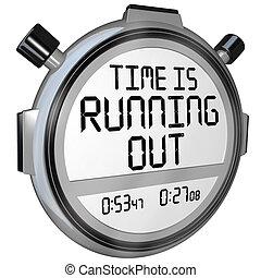 時間, 是, 跑, 在外, stopwatch, 定時器, 鐘