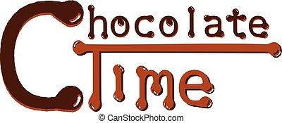 時間, -, 最も良く, chcolate, リラックスしなさい