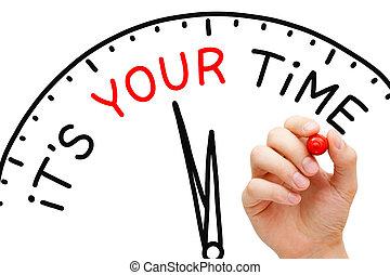 時間, 概念, あなたの, それ, 時計