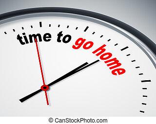 時間, 為了去, 家