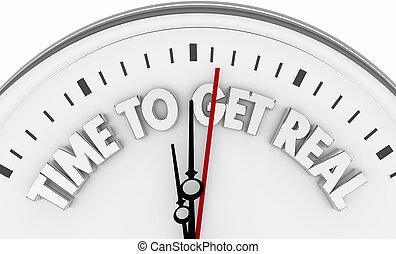 時間, 為了得到, 真正, 鐘, 詞, 3d, render, 插圖