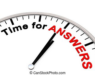 時間, 為, 回答