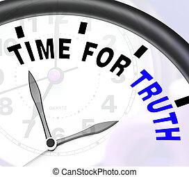 時間, 為, 真理, 消息, 顯示, 誠實, 以及, 真實