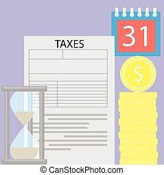 時間, 税, 日, お金, 概念