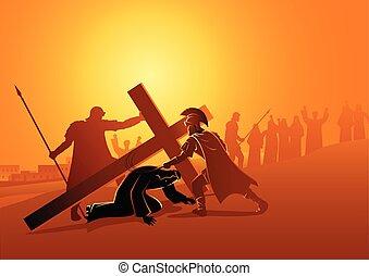 時間, 第3, 落ちる, イエス・キリスト