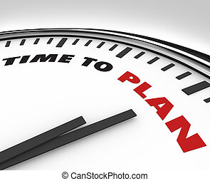 時間, 計画 へ, -, 時計, ∥で∥, 言葉