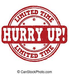 時間, 限られた, 急ぎ, の上, 切手